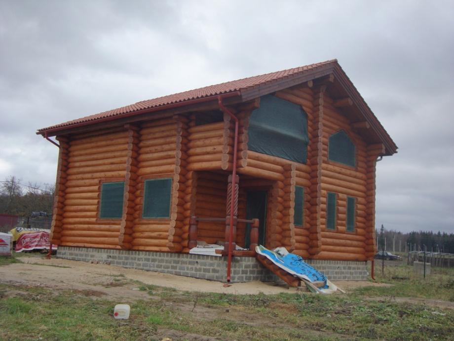 Оцилиндрованные дома цены под ключ в Спб,Фото, Проект 392